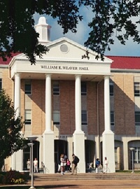 A front view of Weaver Hall at the University of Mobile. (Photo courtesy UM)